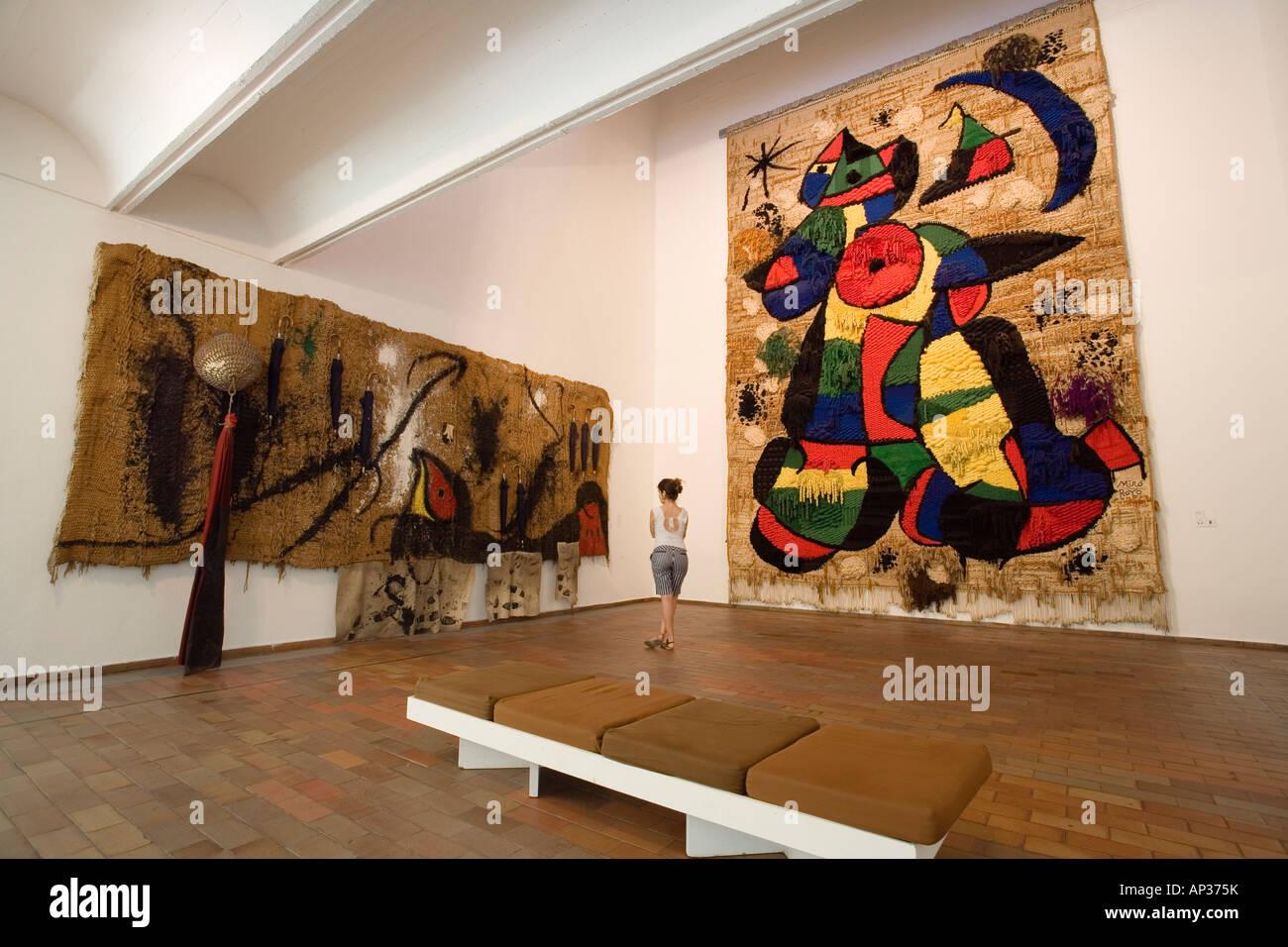 Fundacio Joan Miro, Museum, Montjuic, Barcelona, Spain Stock Photo, Royalty F...