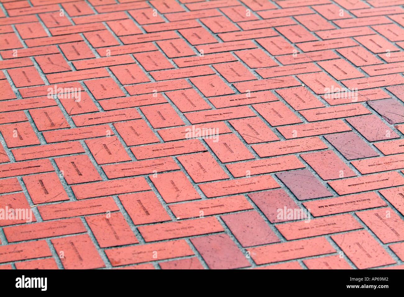 Usa, Oregon, Portland, Names Of People Who Donated To Help Build ...