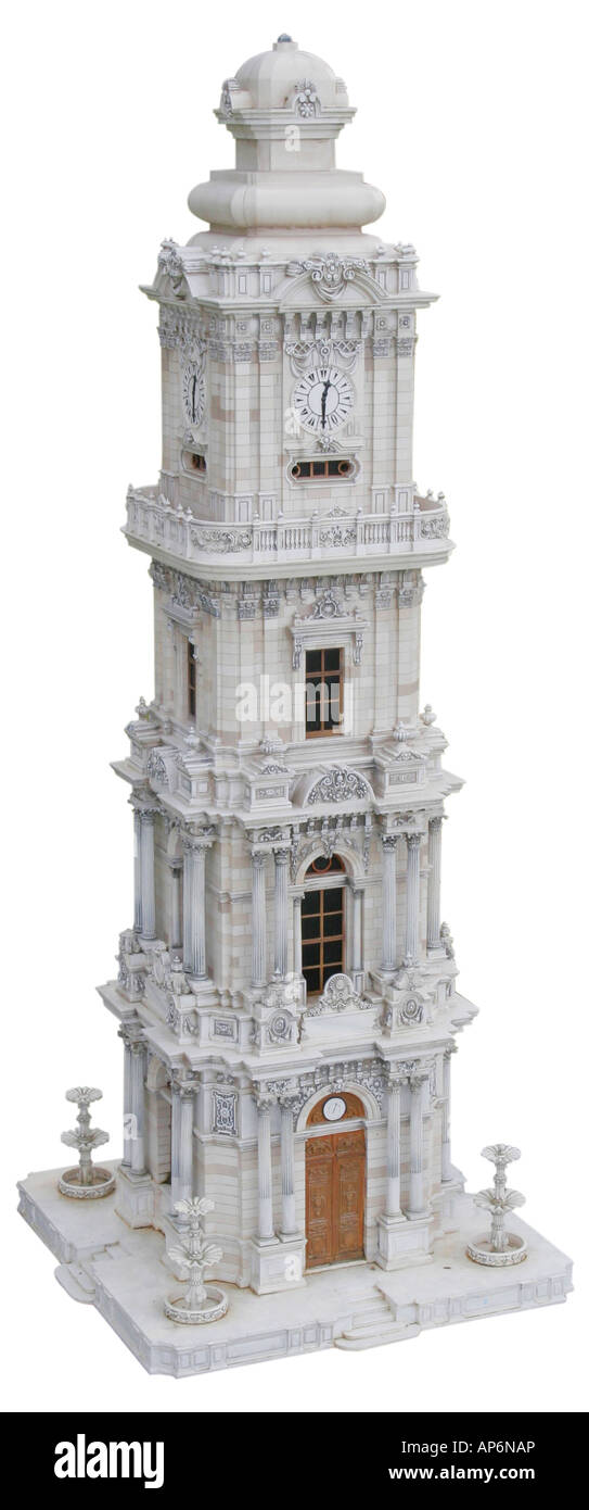 the clock tower of Dolmabahce as a miniature model Turkey ...