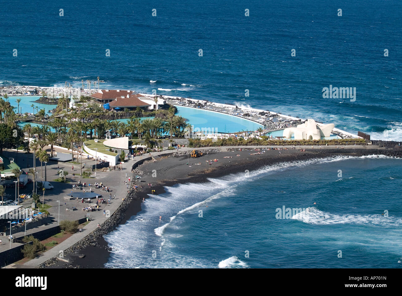 The Lido San Telmo Or Costa Martianez In Puerto De La Cruz Designed Stock Pho...