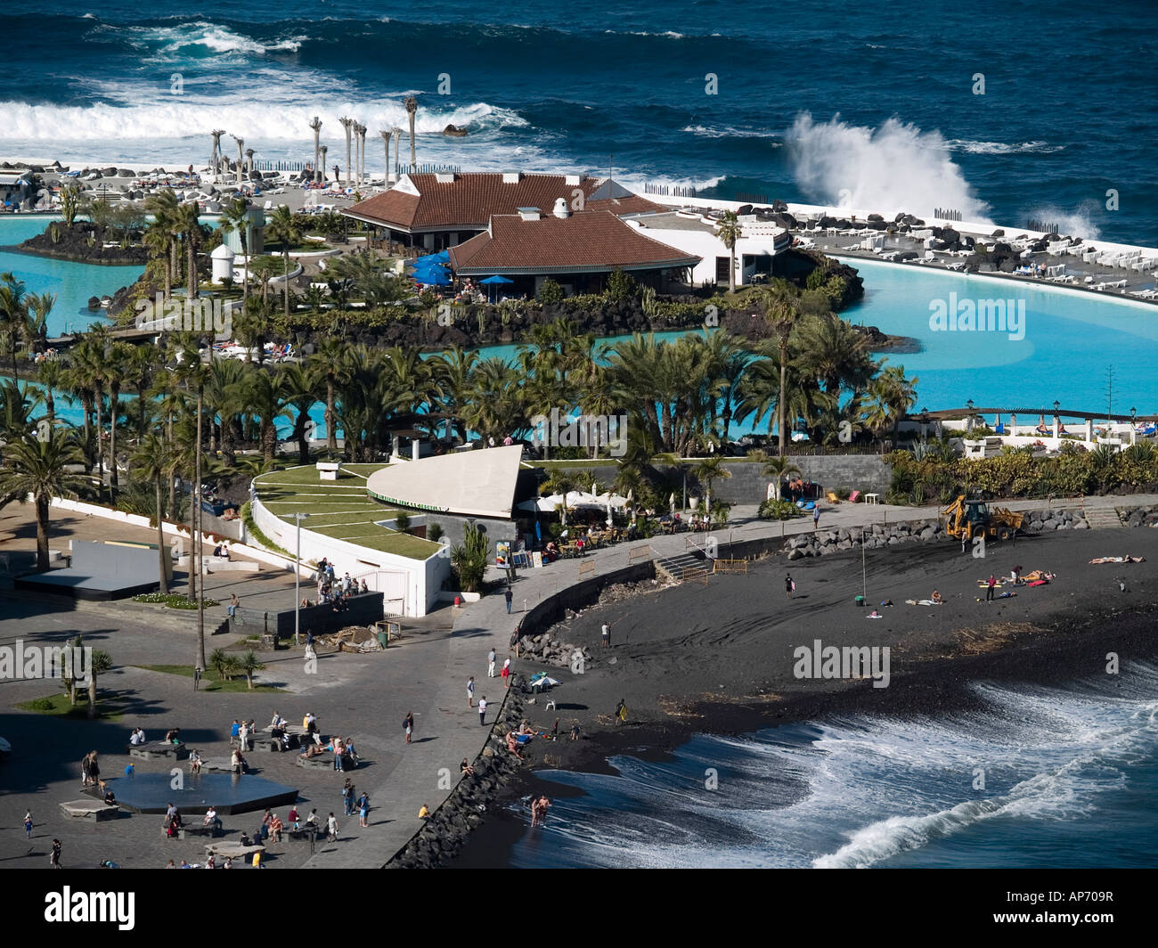 The Lido San Telmo or Costa Martianez in Puerto de la Cruz designed Stockfoto...