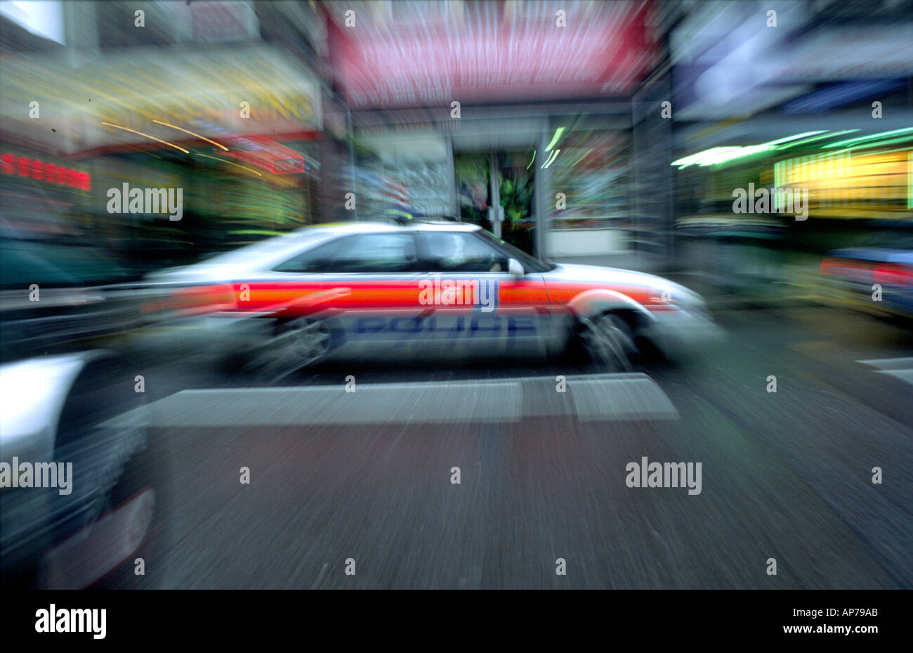 Rover police car zoomed stock image