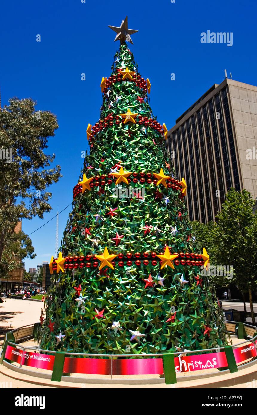 Melbourne Scenic / A Christmas Tree Displayed In Melbourne`s City  Square,Melbourne Australia.