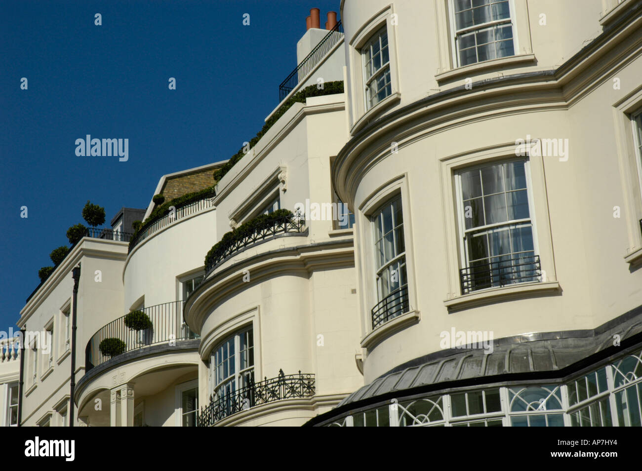Regency Style Houses In Park Lane Mayfair London Uk Stock