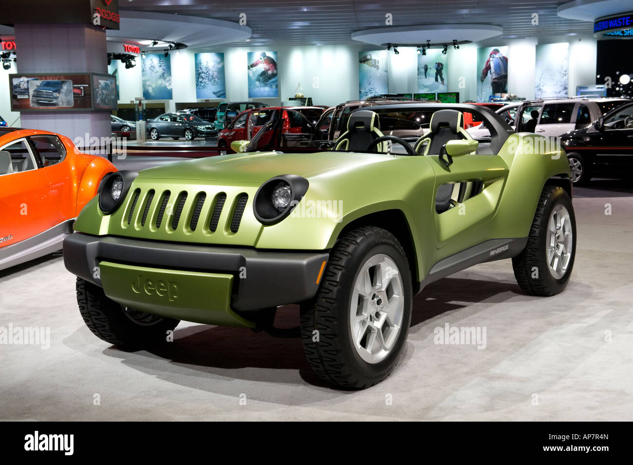 jeep renegade diesel hybrid concept car at the 2008 north american stock photo royalty free. Black Bedroom Furniture Sets. Home Design Ideas