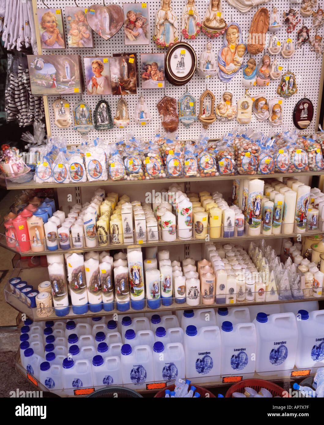 France midi pyrenees lourdes souvenirs holy water bottles stock france midi pyrenees lourdes souvenirs holy water bottles publicscrutiny Images