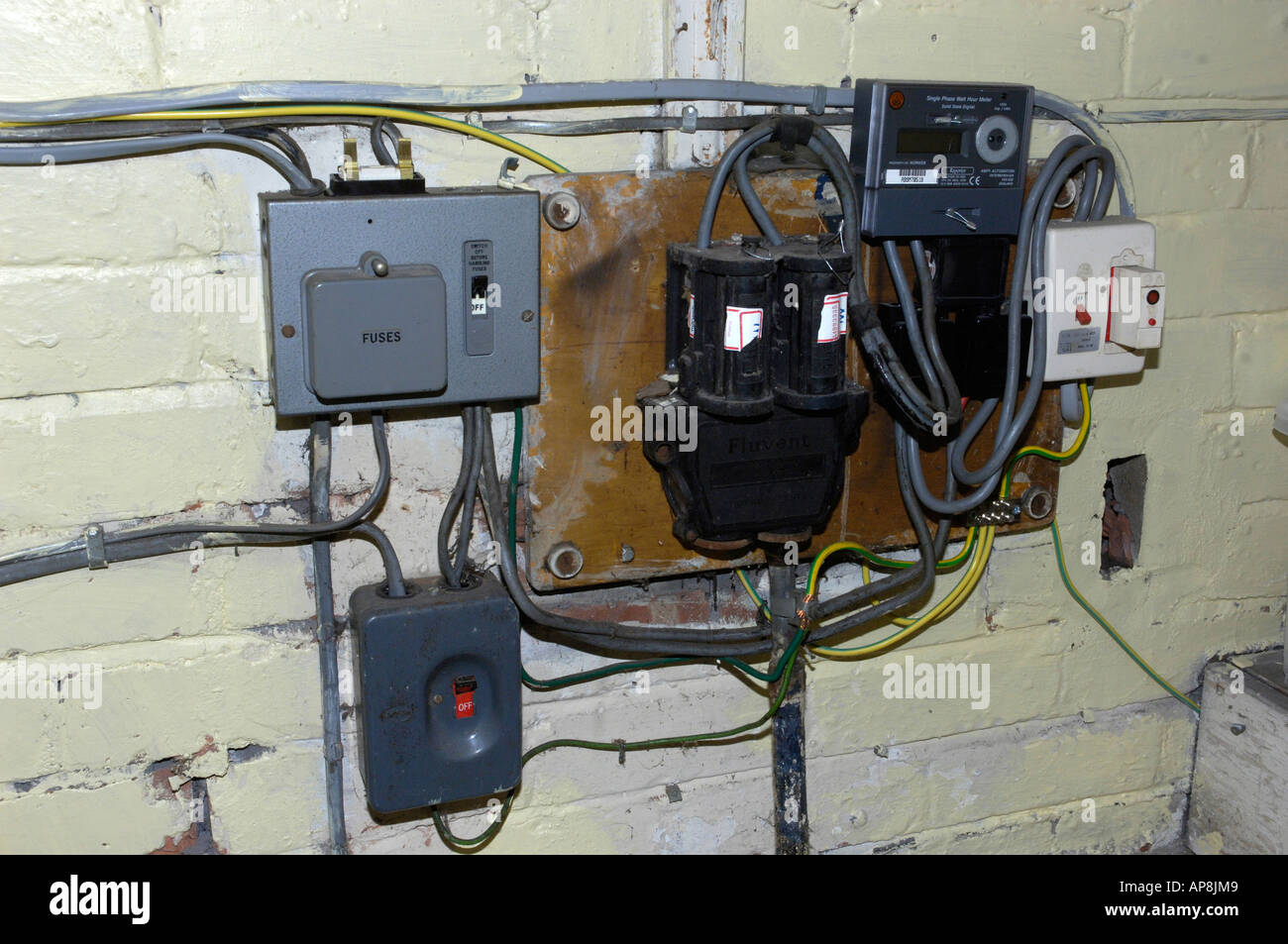 old electrical fuse box AP8JM9 old electrical fuse box stock photo, royalty free image 8977864 old electrical fuse box at bayanpartner.co