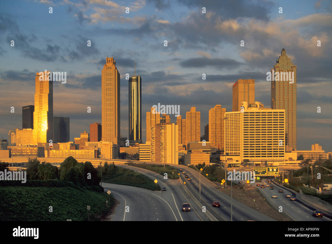 downtown skyline from jackson street bridge atlanta georgia usa stock photo royalty free image. Black Bedroom Furniture Sets. Home Design Ideas