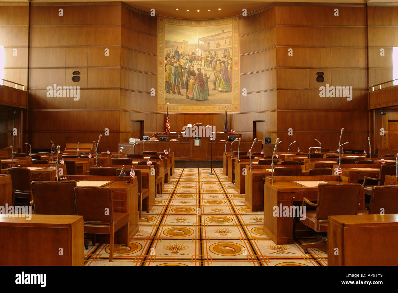 AJD52098 Salem OR Oregon State Capitol interior Stock Photo