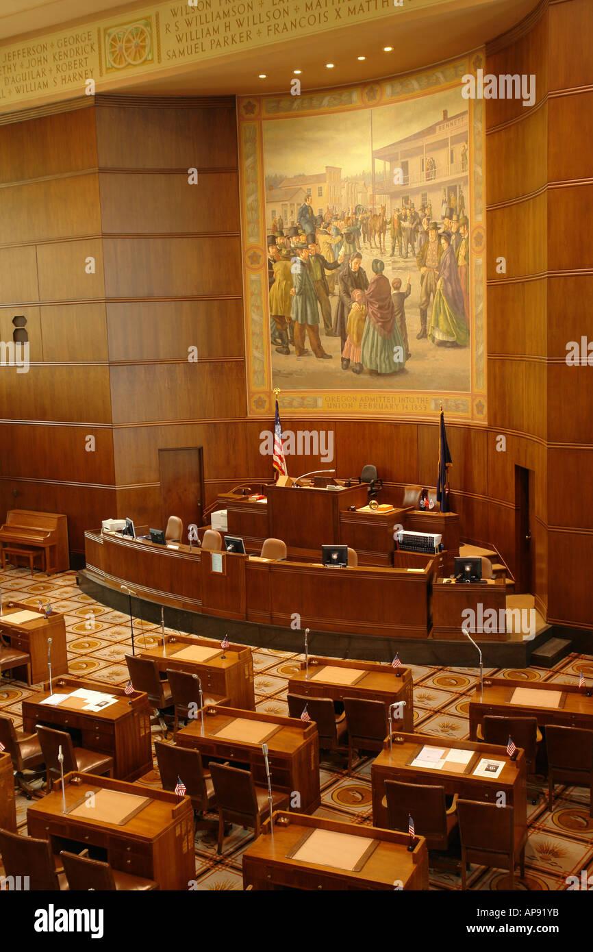 AJD52100 Salem OR Oregon State Capitol interior Stock Photo