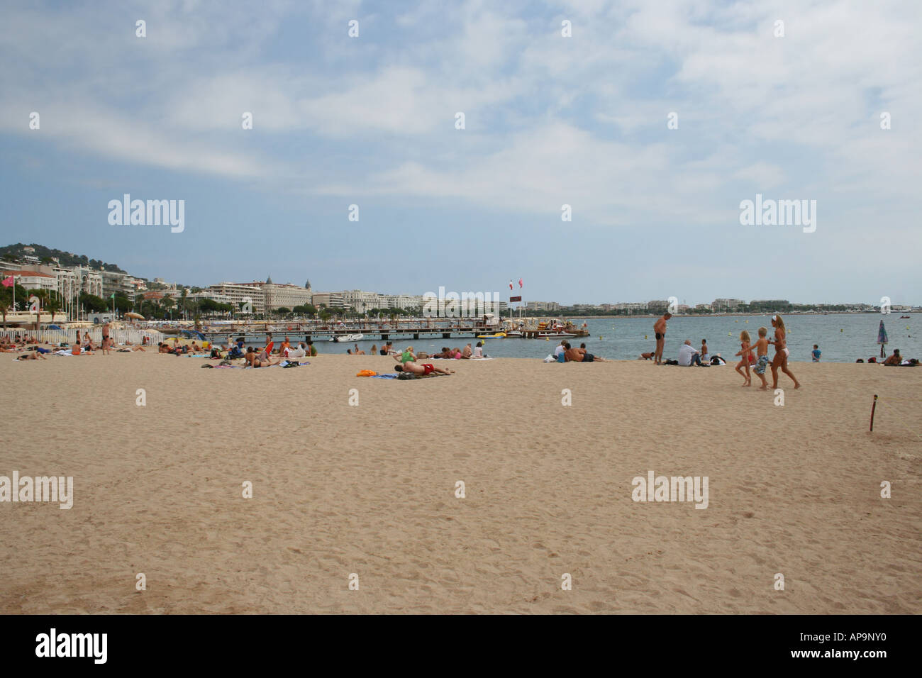 Sunbathing People At The Beach Cannes Beach French Riviera ...