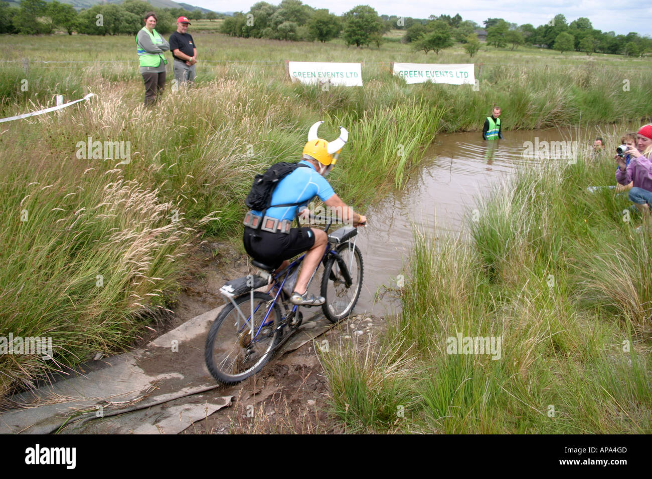 Roger Williams Competitor In World Mountain Bike Bog Snorkeling