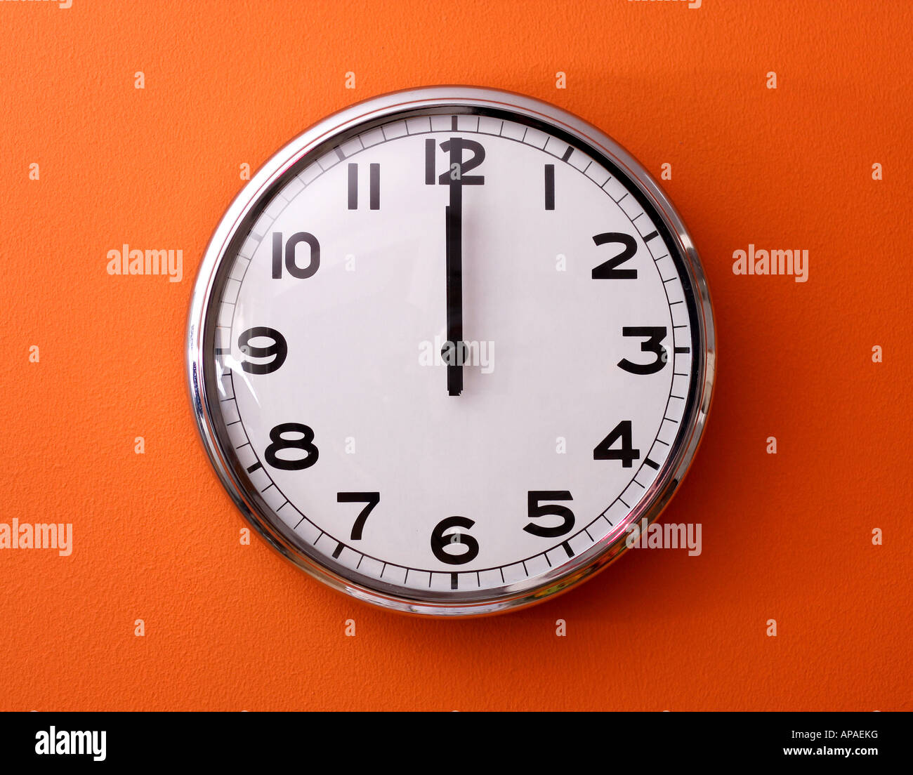 Clock on the wall showing noon stock photo royalty free image clock on the wall showing noon amipublicfo Gallery