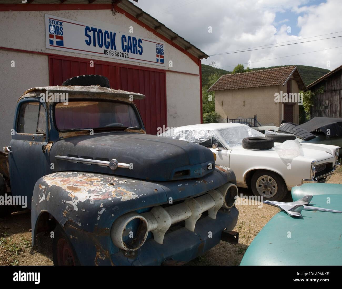 Rusty Ford Stock Car Scrap Yard USA & Rusty Ford Stock Car Scrap Yard USA Stock Photo Royalty Free ... markmcfarlin.com