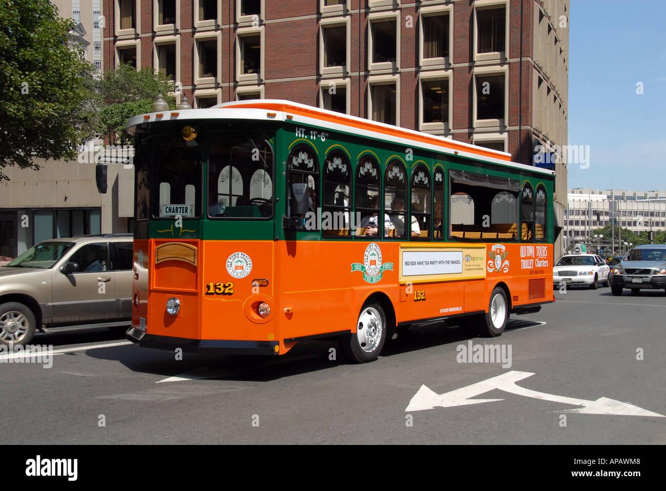 Boston Tourist Trolley Stock Photo Royalty Free Image 8989959