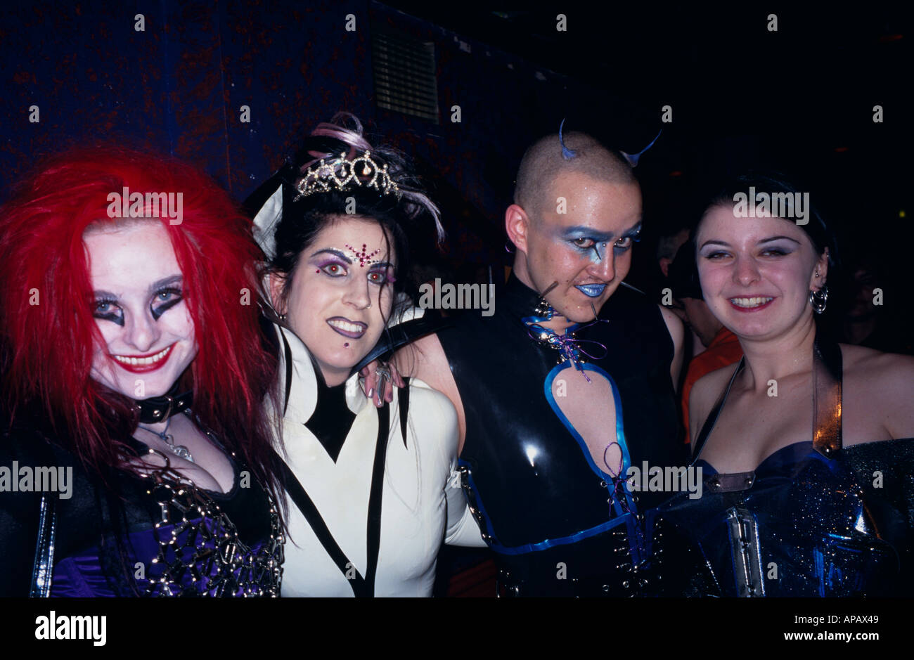 People at Halloween Party London England Stock Photo, Royalty Free ...