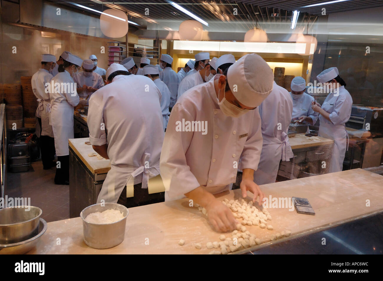 Busy Restaurant Kitchen A Glimpse Of A Busy Chinese Dumpling Restaurant Kitchen Shows