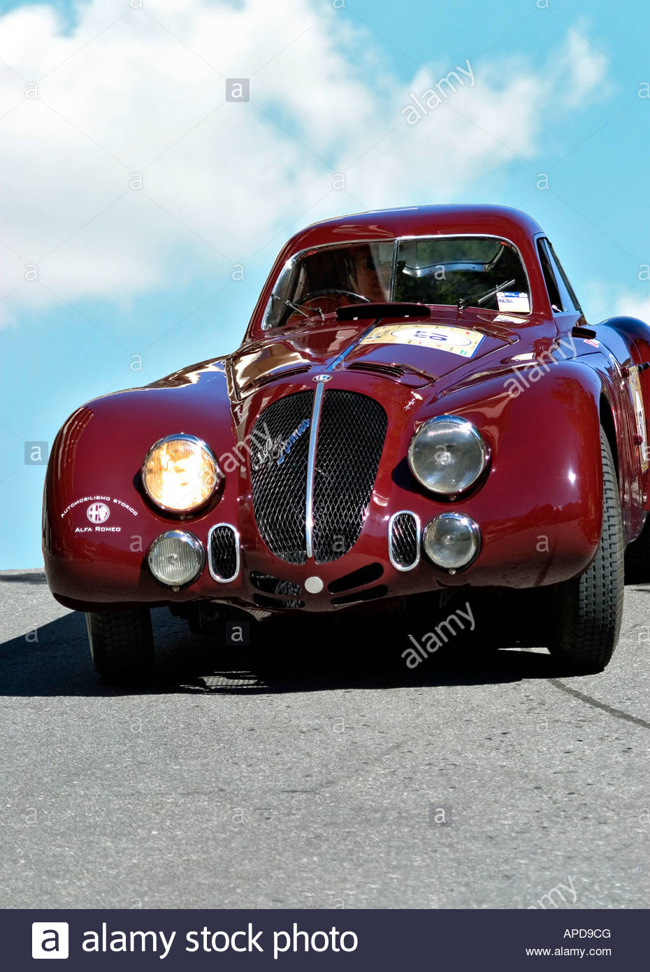Vintage Alfa Romeo Oldtimer Racing During The Arosa Mountain Rally In  Switzerland   Stock Image