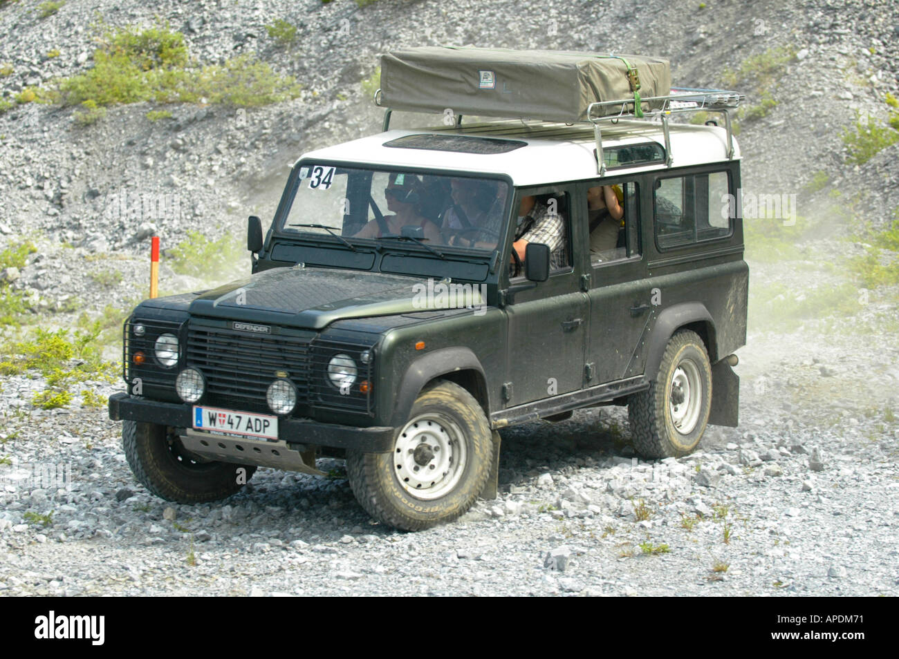 Land Rover Defender 110 Station Wagon TD5 with family and roof tent & Land Rover Defender 110 Station Wagon TD5 with family and roof ...
