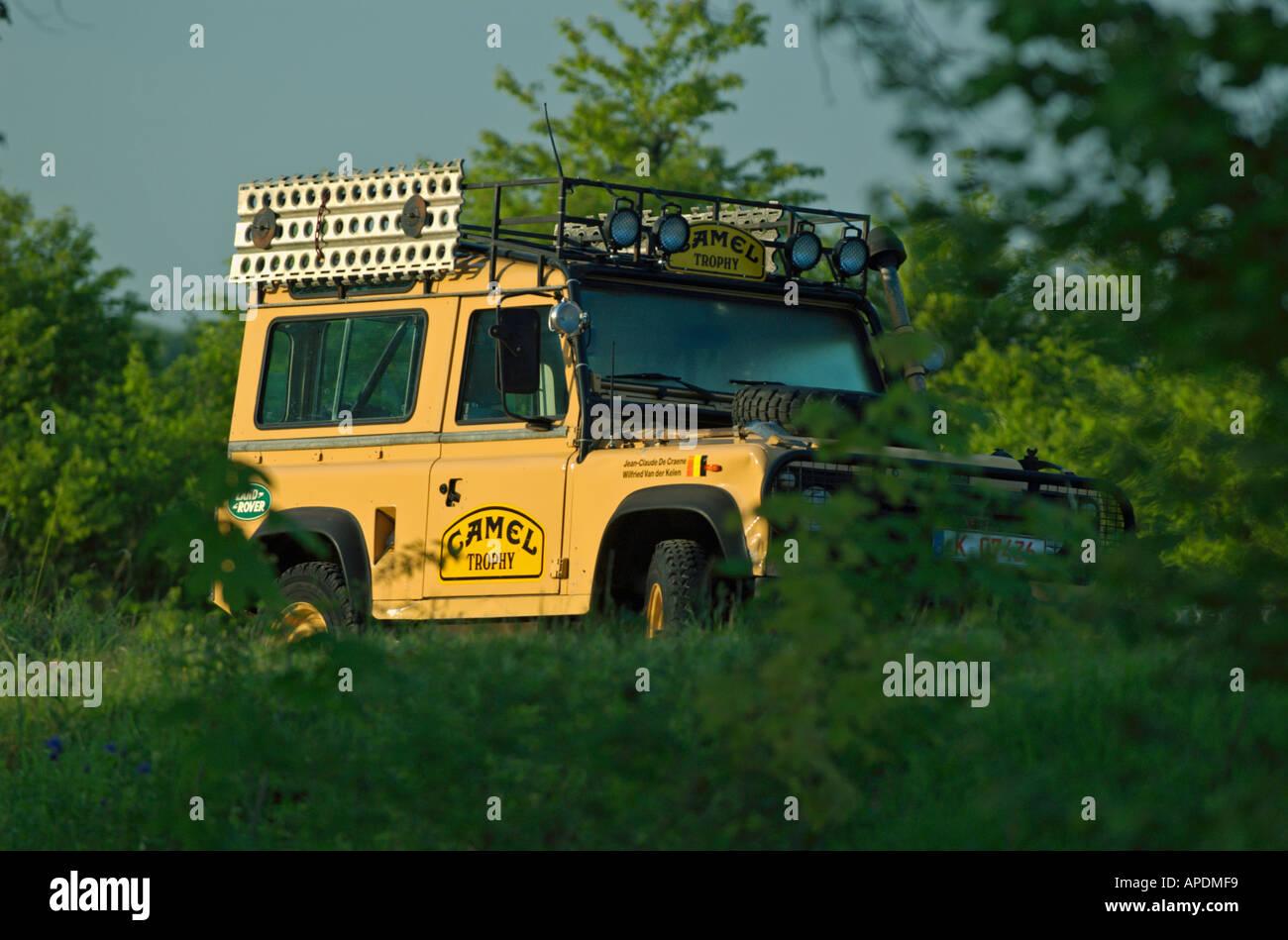 Original 1985 Camel Trophy Land Rover Defender 90 Stock Photo, Royalty Free Image: 5144824 - Alamy