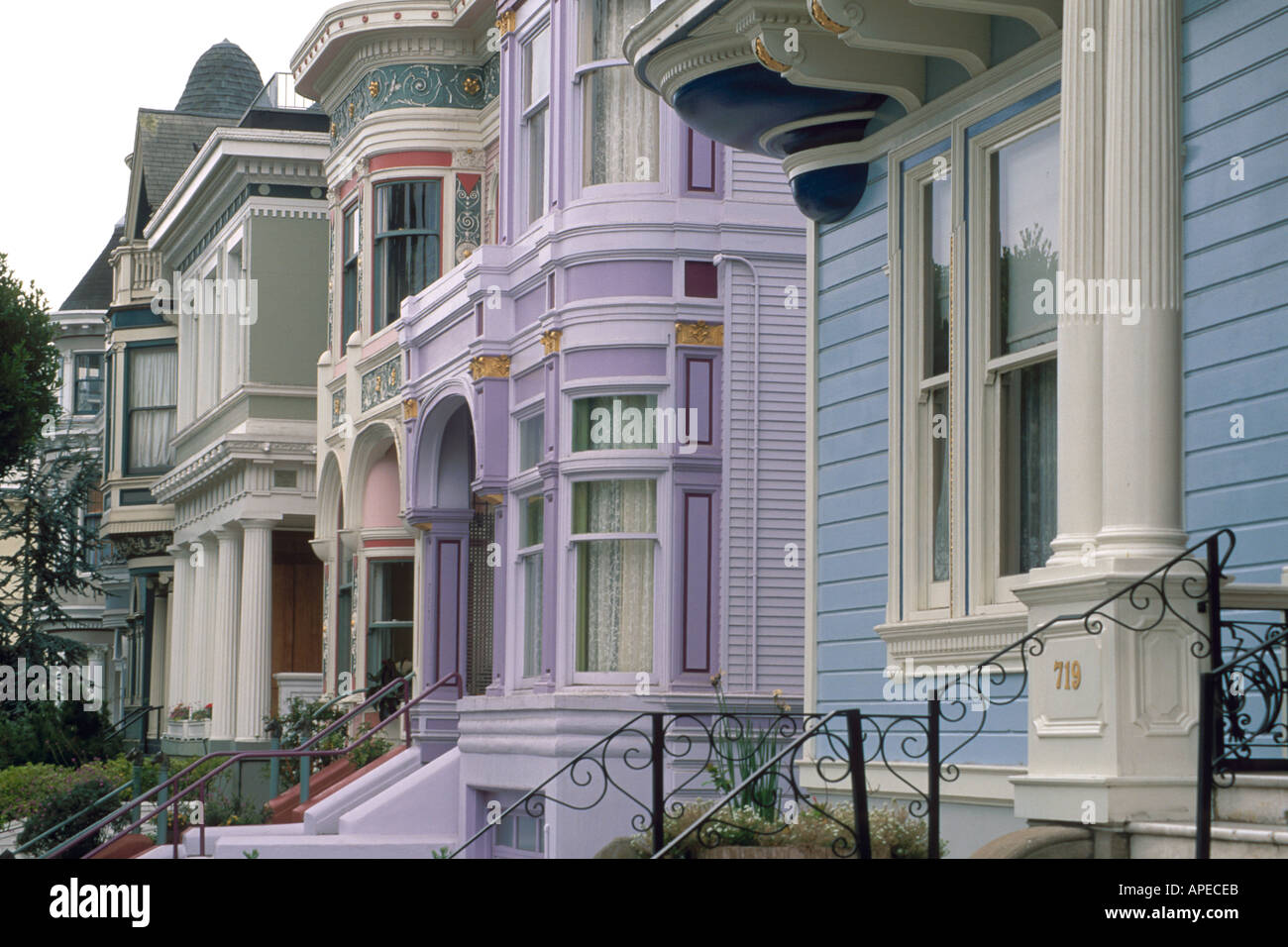 19th Century Wooden Victorian Style Home Front Row Houses