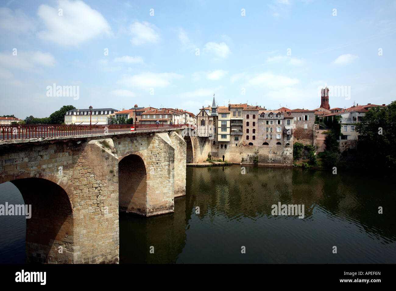 france aquitaine lot et garonne villeneuve sur lot a view of the stock photo royalty free image. Black Bedroom Furniture Sets. Home Design Ideas