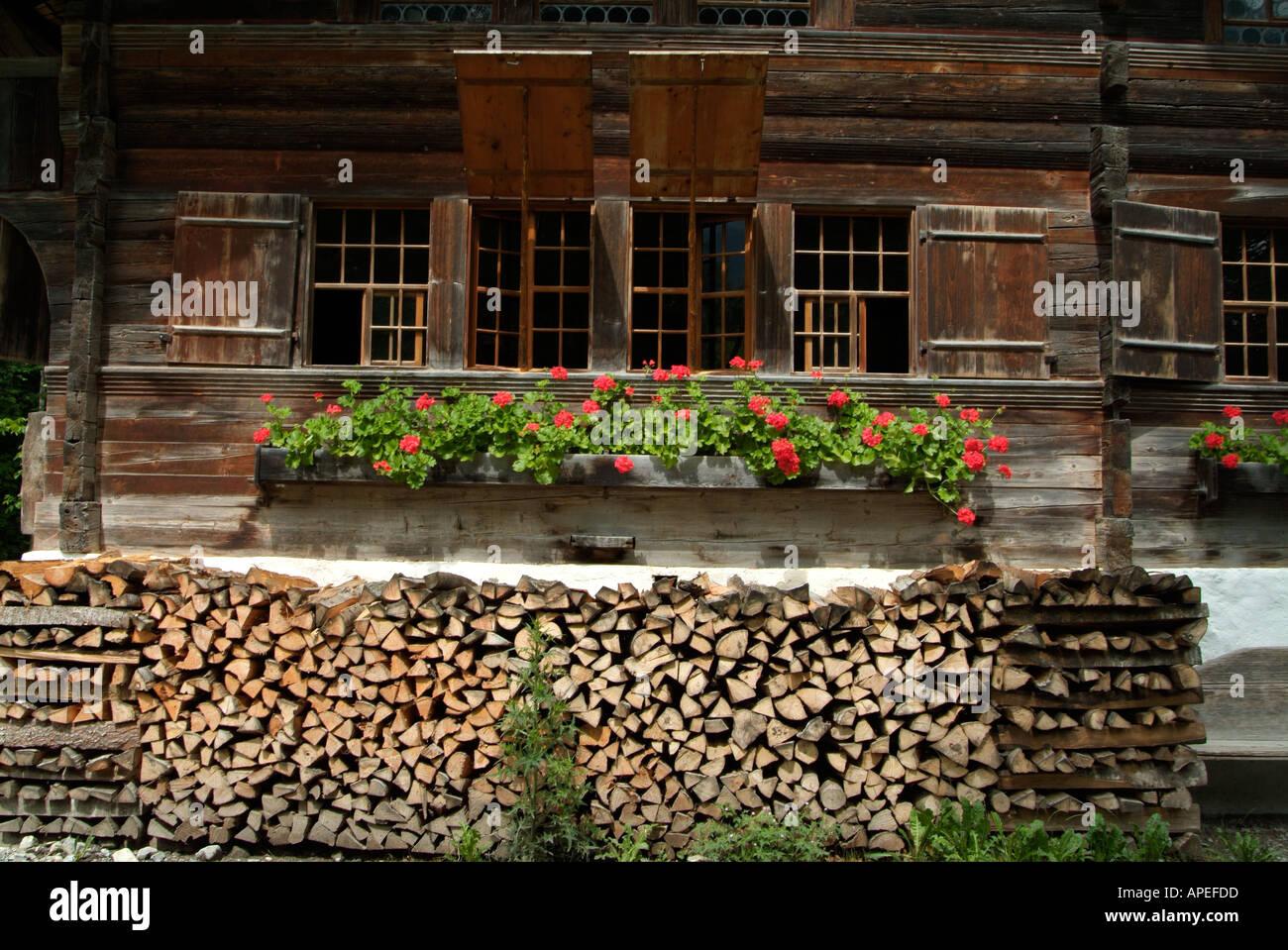 Traditional Swiss Architecture Freilicht Ballenberg Open Air Museum Near Brienz Bernese Oberland Central Switzerland