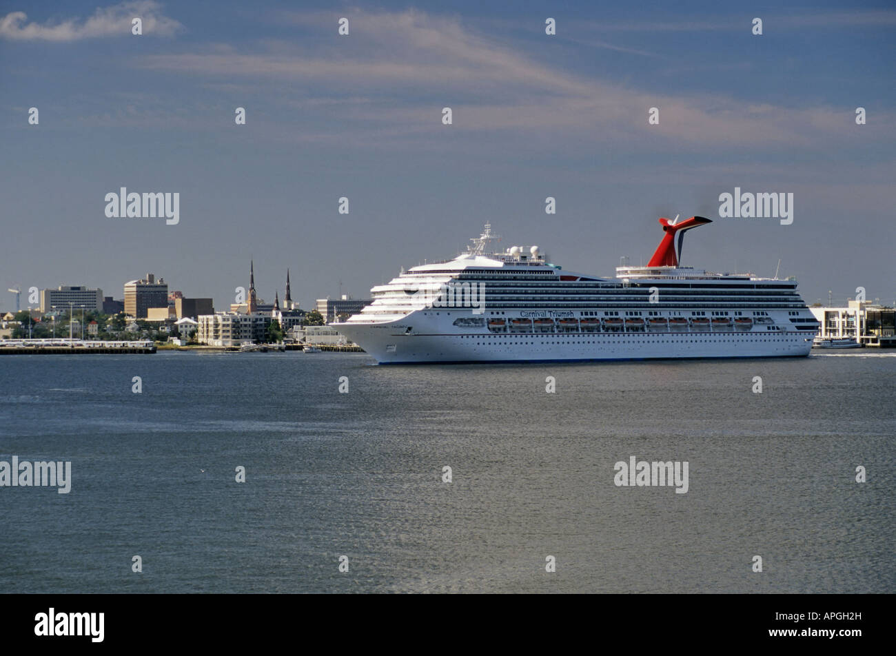 Carnival Triumph Cruise Ship In Charleston South Carolina USA - Cruise ships out of charleston south carolina