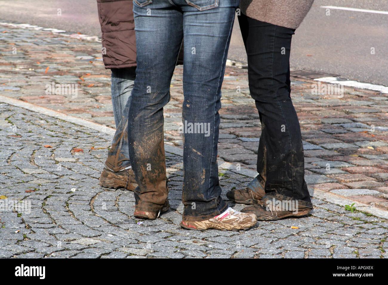 Dirty Feet Women Wearing Shoes