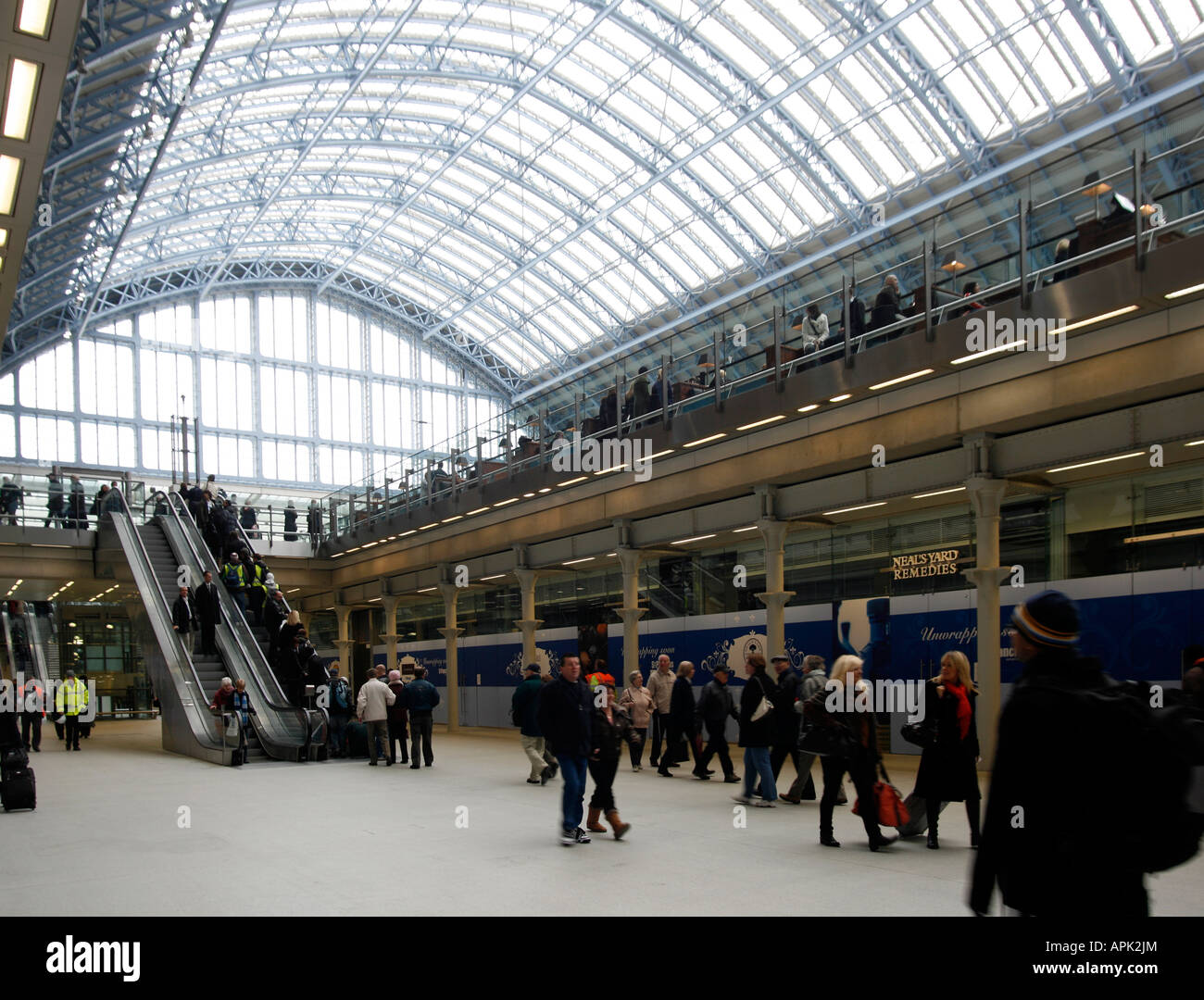 The Large Glass Roof Of St Pancras Station With The