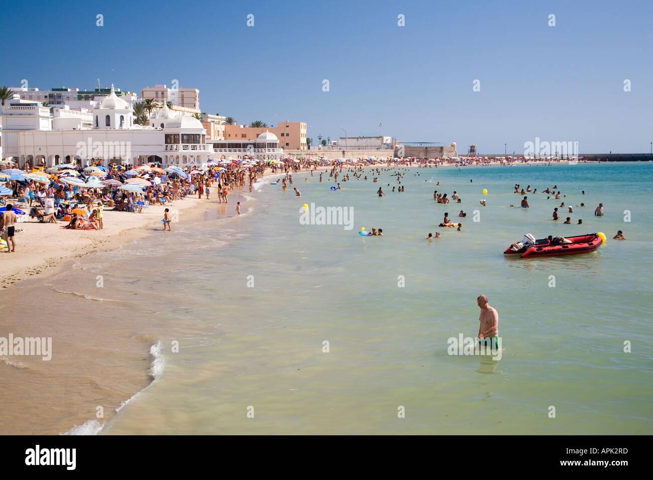 La Caleta Beach, Cadiz, Spain Stock Photo, Royalty Free ...