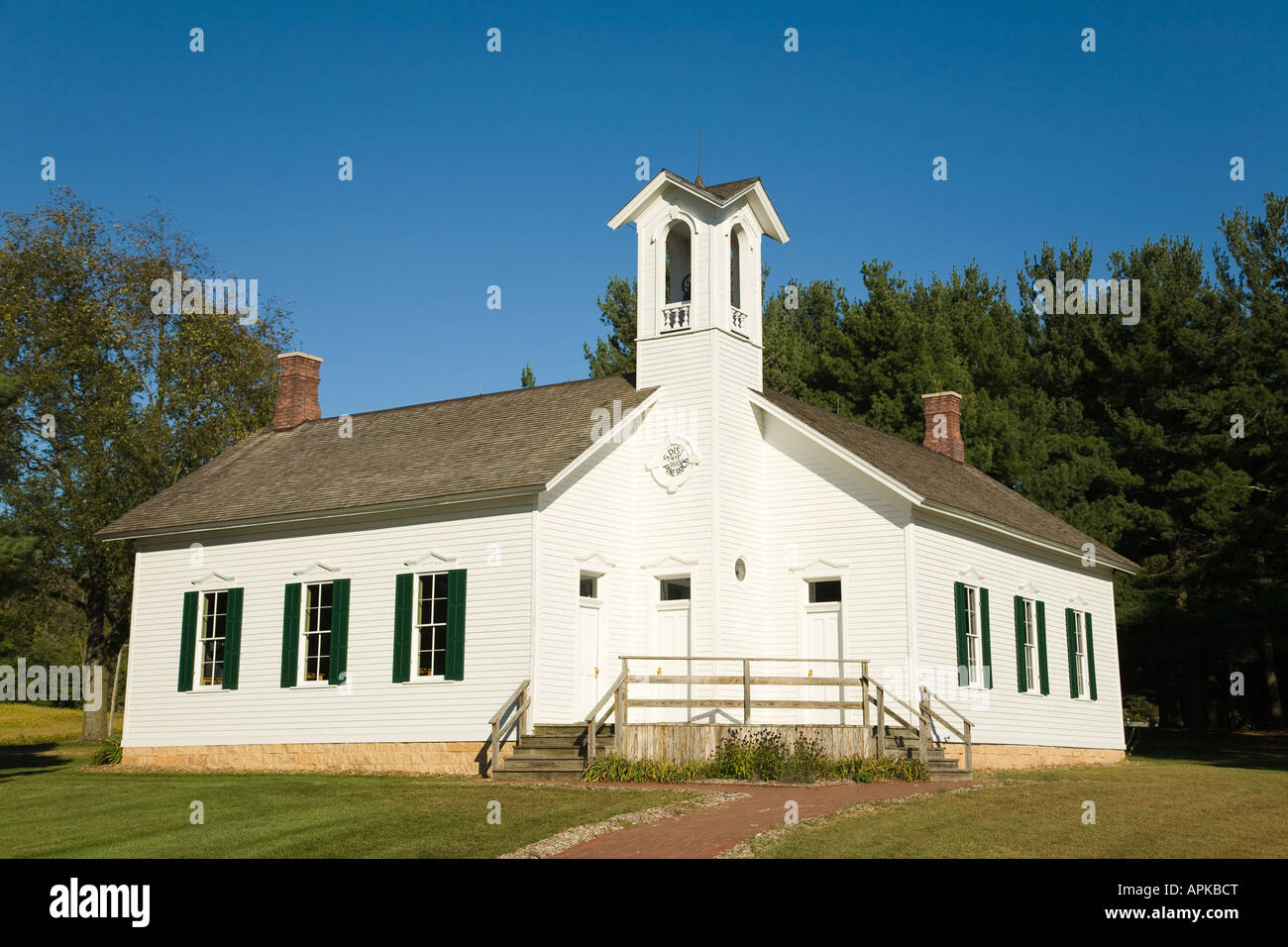 Illinois ogle county oregon - Illinois Ogle County Chana Two Room Schoolhouse Museum Registered Historic Building White Wooden Building Stock