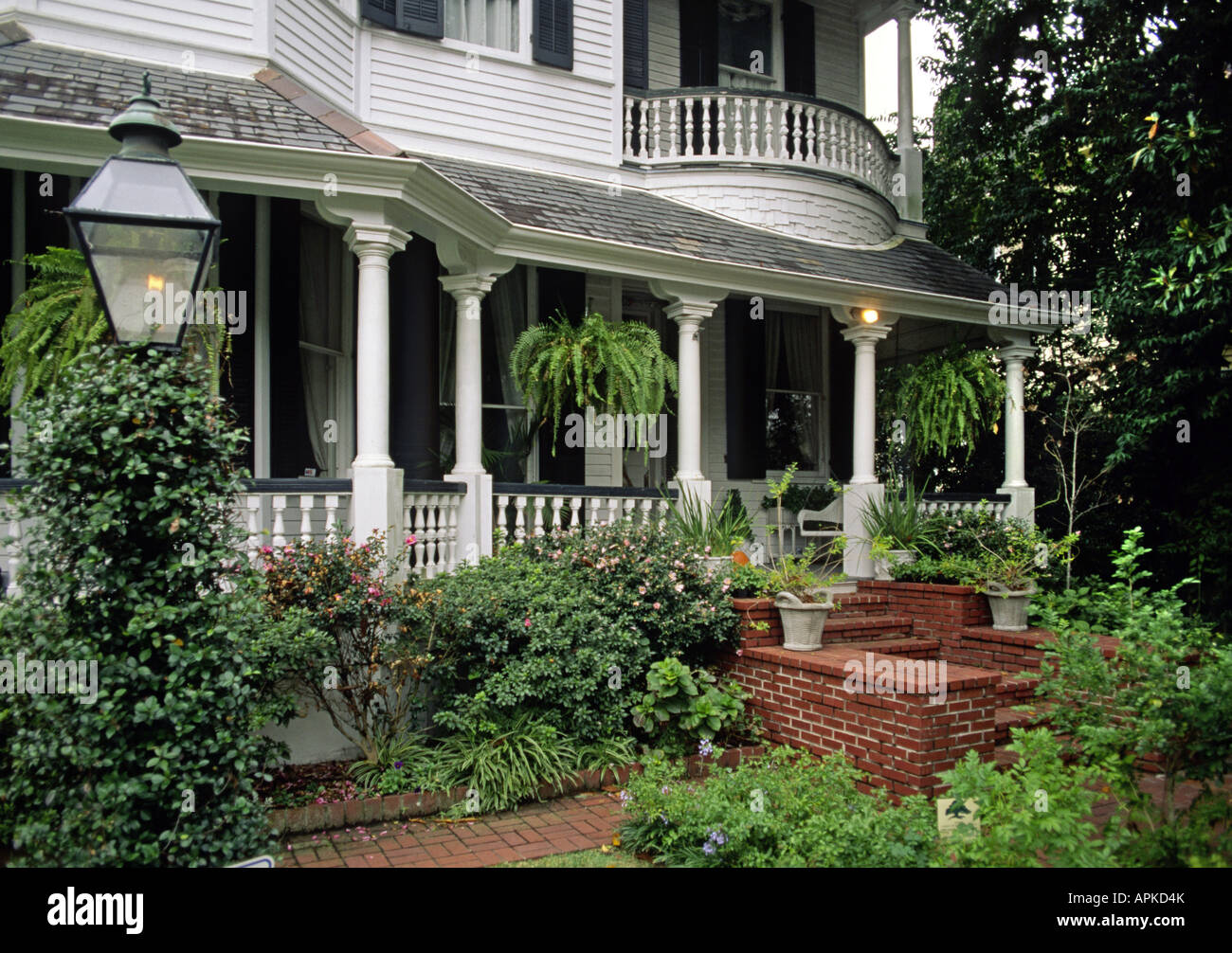 Porch Garden Of A Southern Style Mansion In The Garden