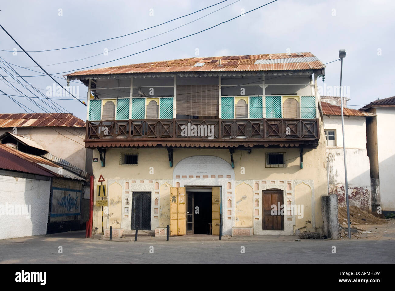 Old town house with balcony mombasa kenya
