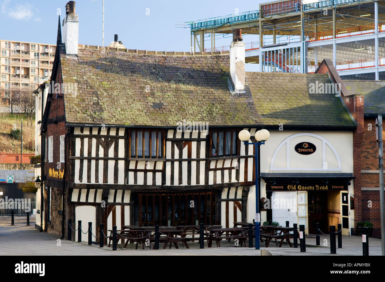 old queens head pub in sheffield great britain stock. Black Bedroom Furniture Sets. Home Design Ideas