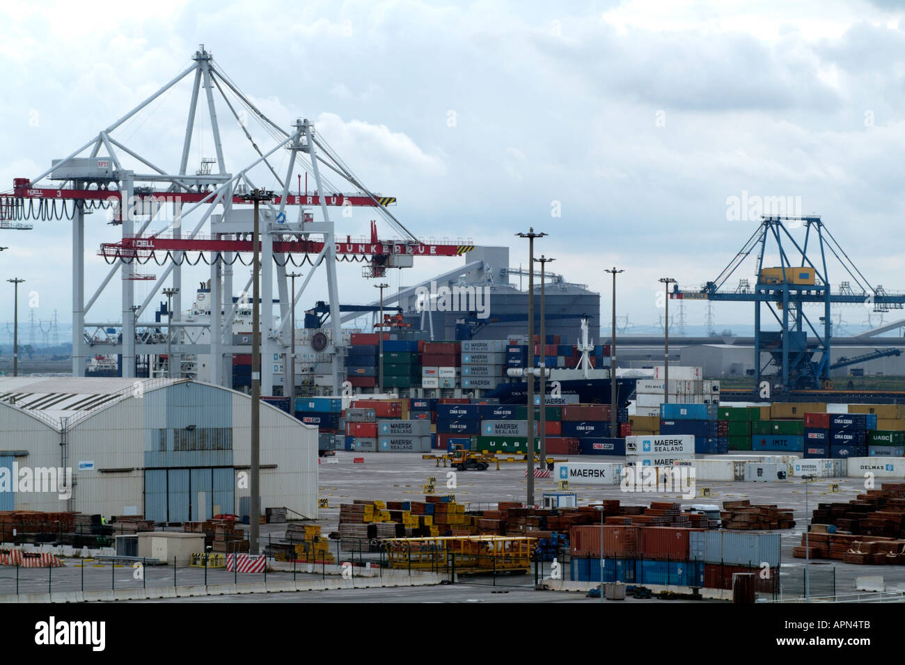 Container port dunkerque northern france europe eu cranes and stock photo royalty free image - Dunkirk port france address ...