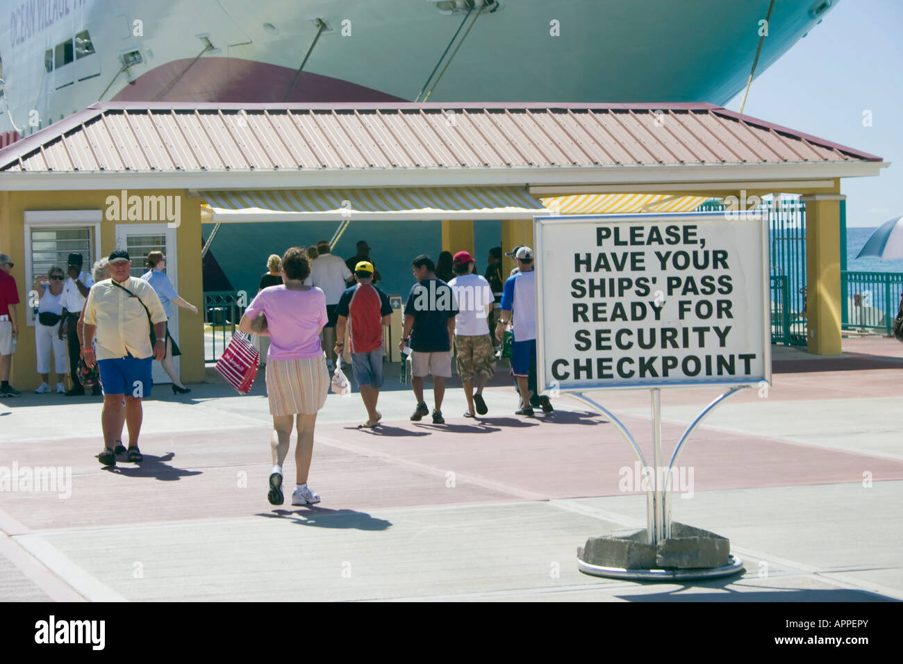 Cruise Ship Passengers At Security Checkpoint At The Port Of Saint - Is there security on cruise ships
