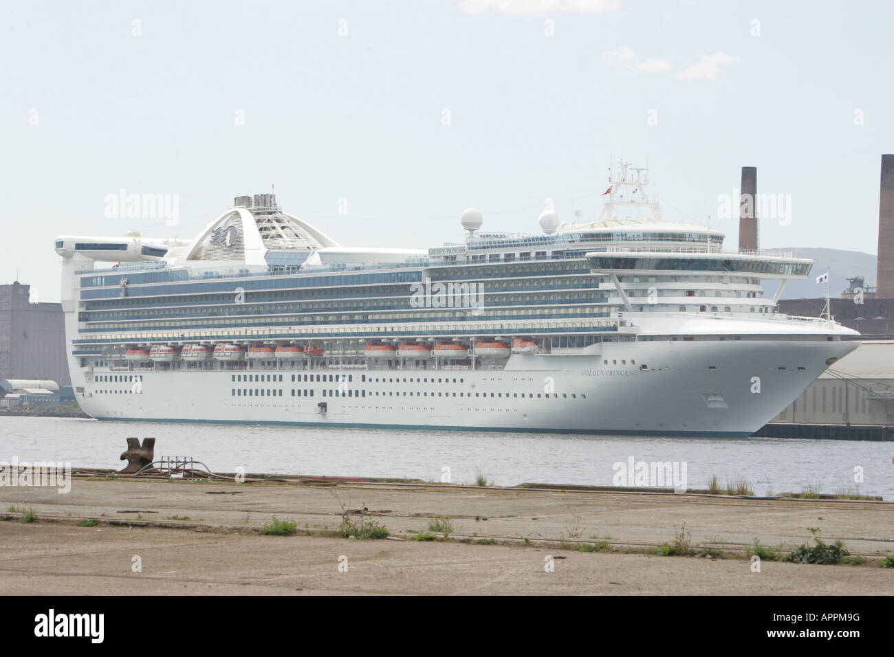 A Newly Arrived Cruise Ship At Belfast Docks In Belfast Northern - Cruise ship ireland