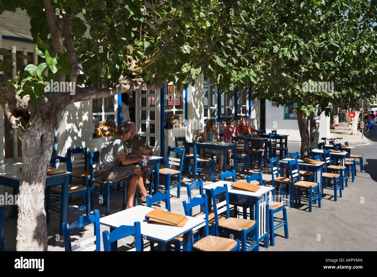 Greek taverna inthe resort centre paleochora south west coast stock photo 15846116 alamy - Mobile bar taverna ...