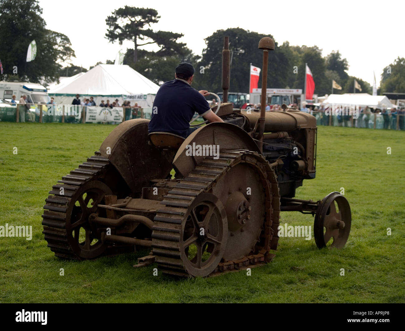 Old Tractor With Tracks : A fordson major e n half track vintage tractor at