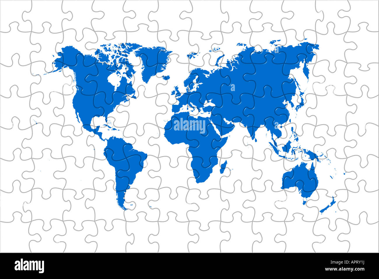 High quality puzzle world map image over a white background stock high quality puzzle world map image over a white background gumiabroncs Images