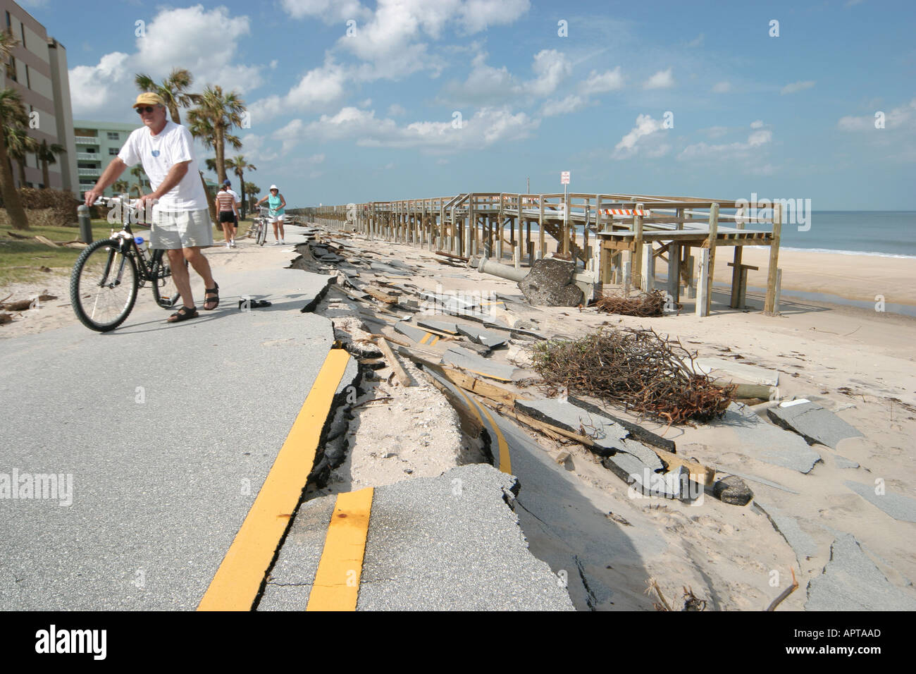 Vero Beach Florida Hurricane Jeanne Damage Missing Road Wave Erosion Tidal Surge