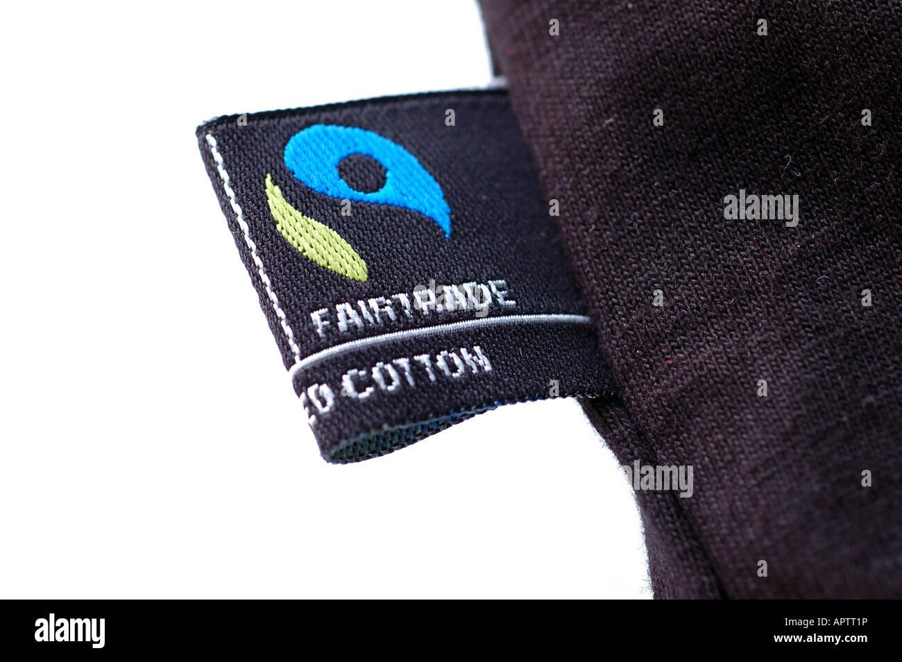 Fair Trade Clothing Logo On A Black T Shirt Stock Photo