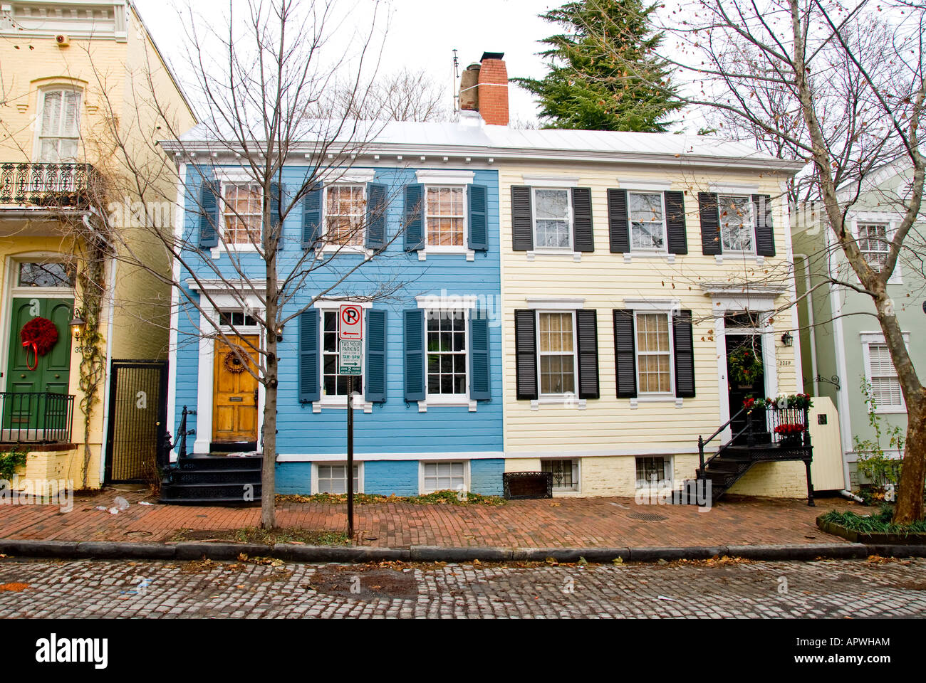 Typical Georgetown Row Houses In Washington Dc Stock Photo