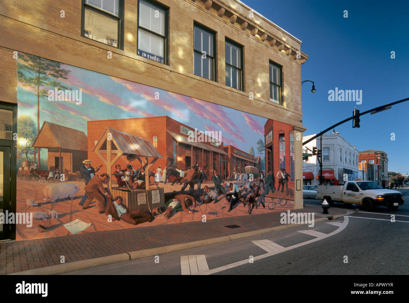 Dothan riot wall mural in dothan alabama usa stock photo for Alabama wall mural