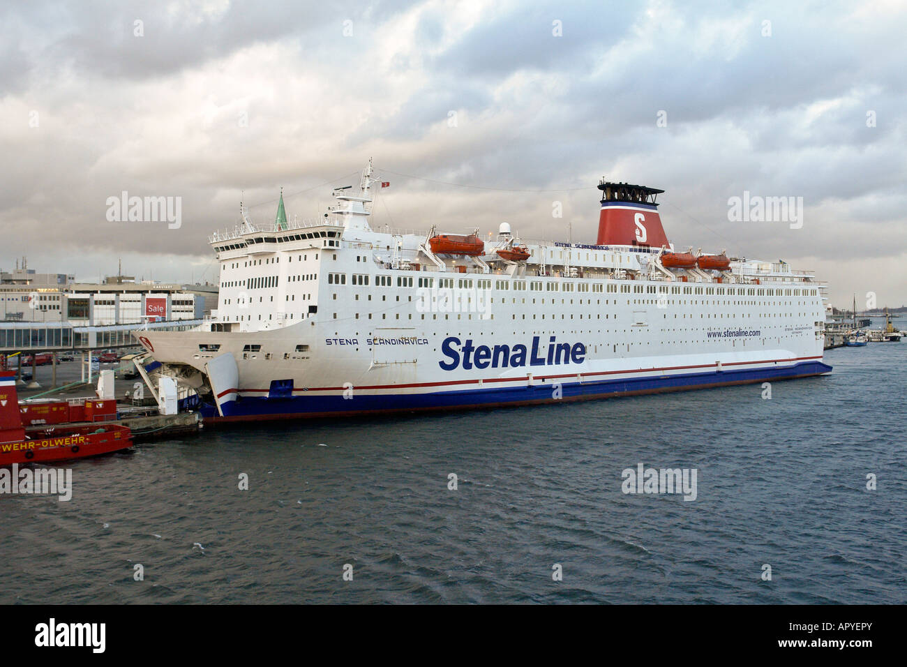 stena line 39 s gothenburg kiel ferry stena scandinavica in kiel harbour stock photo 15888818 alamy. Black Bedroom Furniture Sets. Home Design Ideas