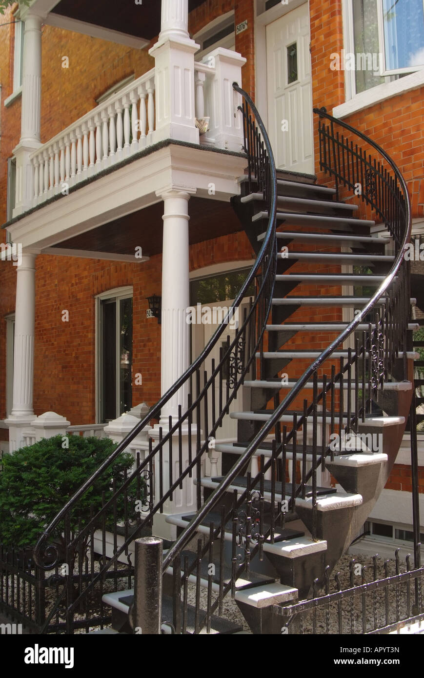 Canada Quebec Montreal Exterior Staircase To The Second