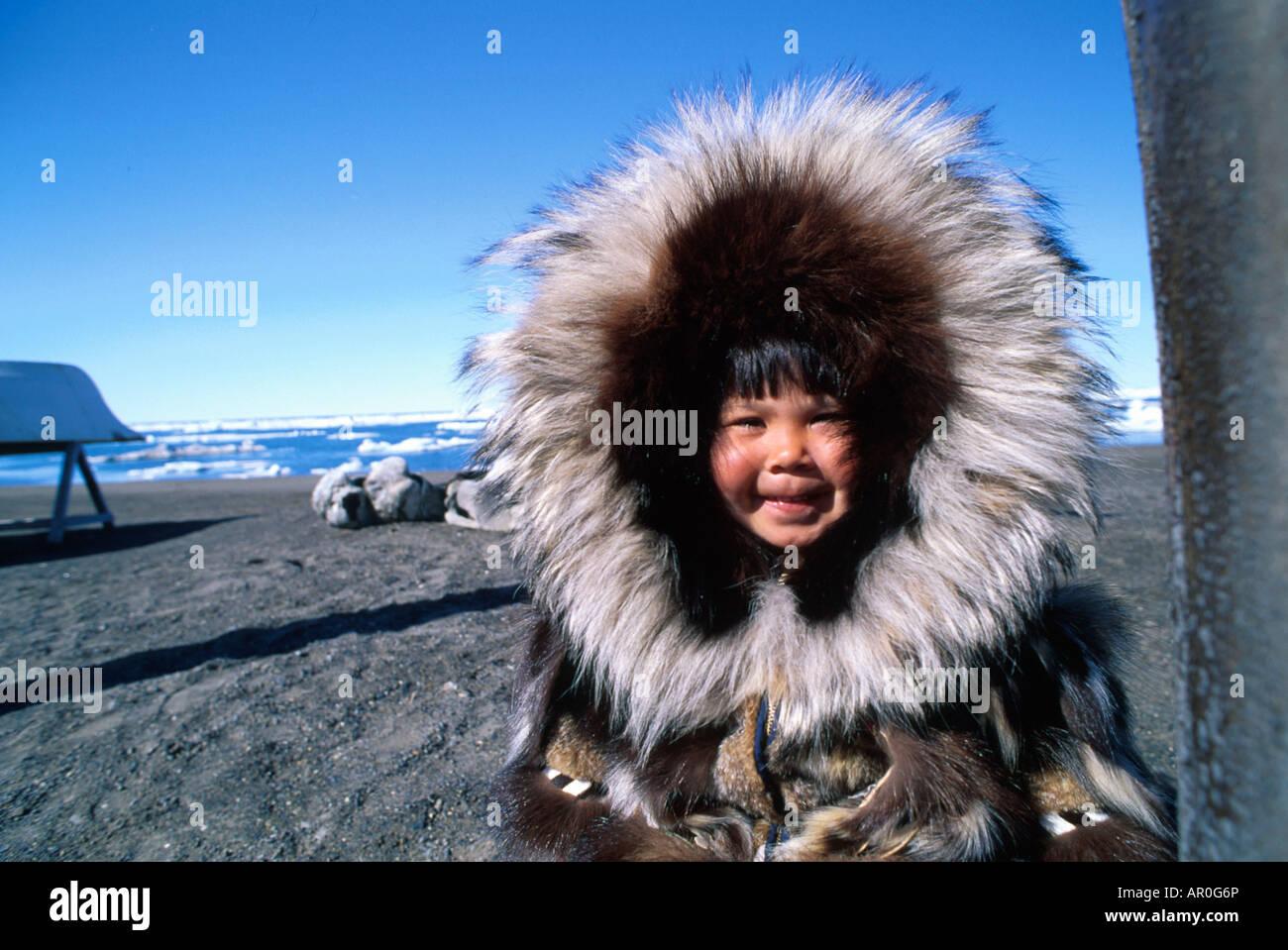 Eskimo in a parka