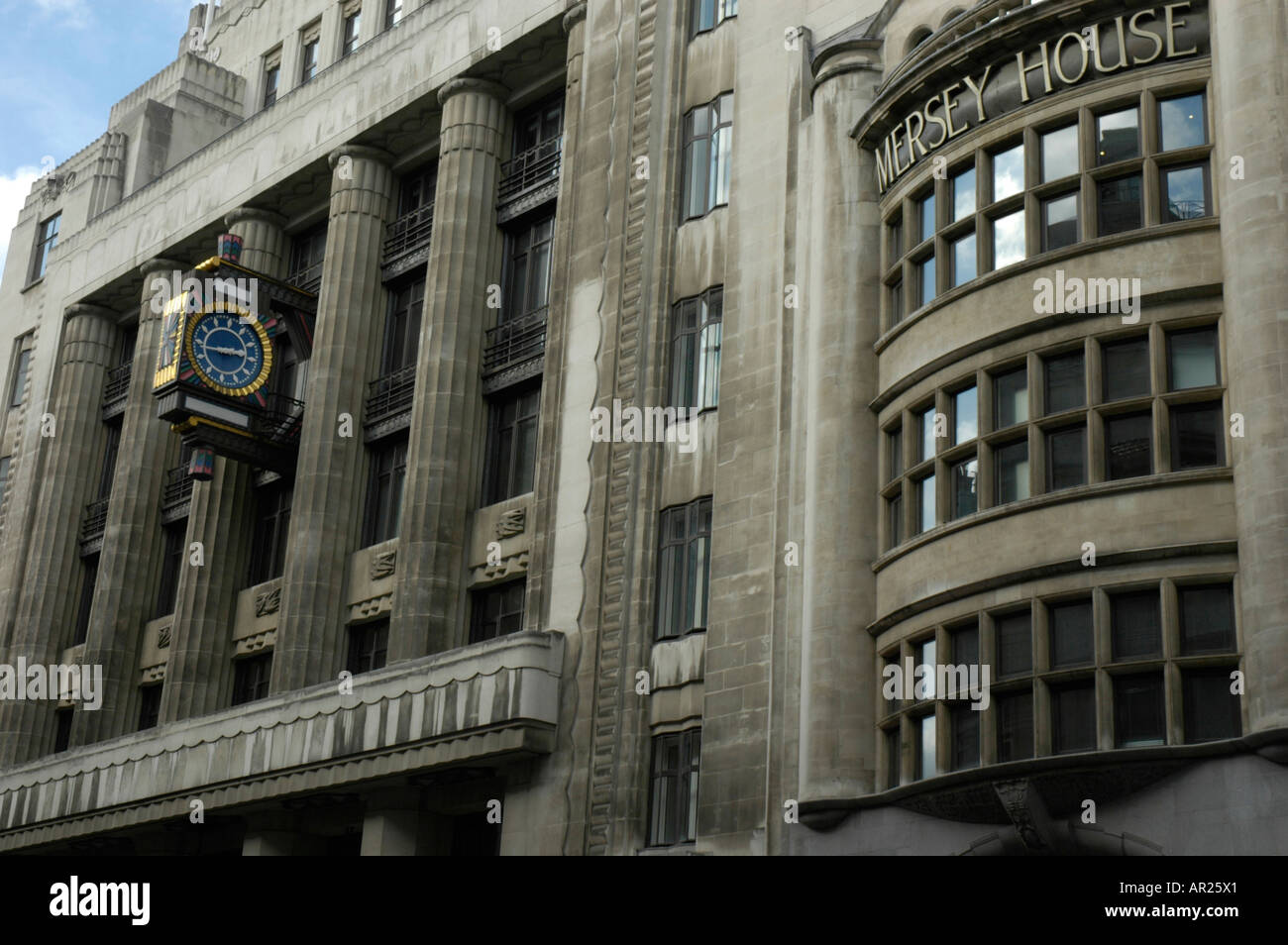 mersey house art deco building in fleet street london england stock photo royalty free image. Black Bedroom Furniture Sets. Home Design Ideas