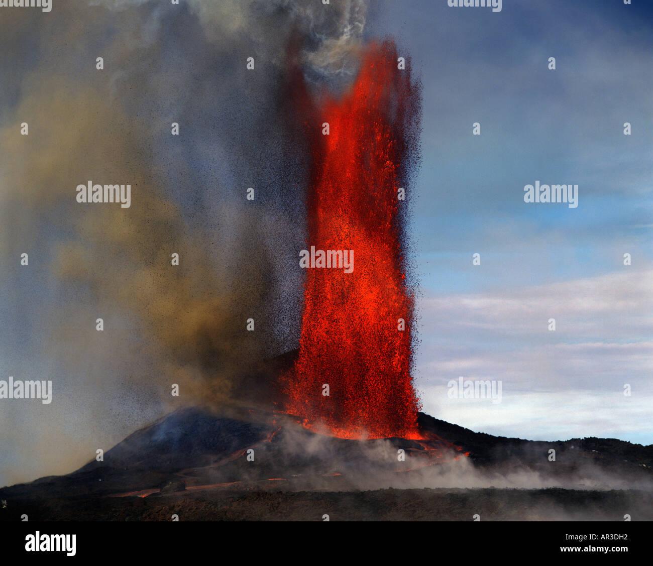 lava fountain how tall